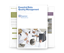 Essential data quality management