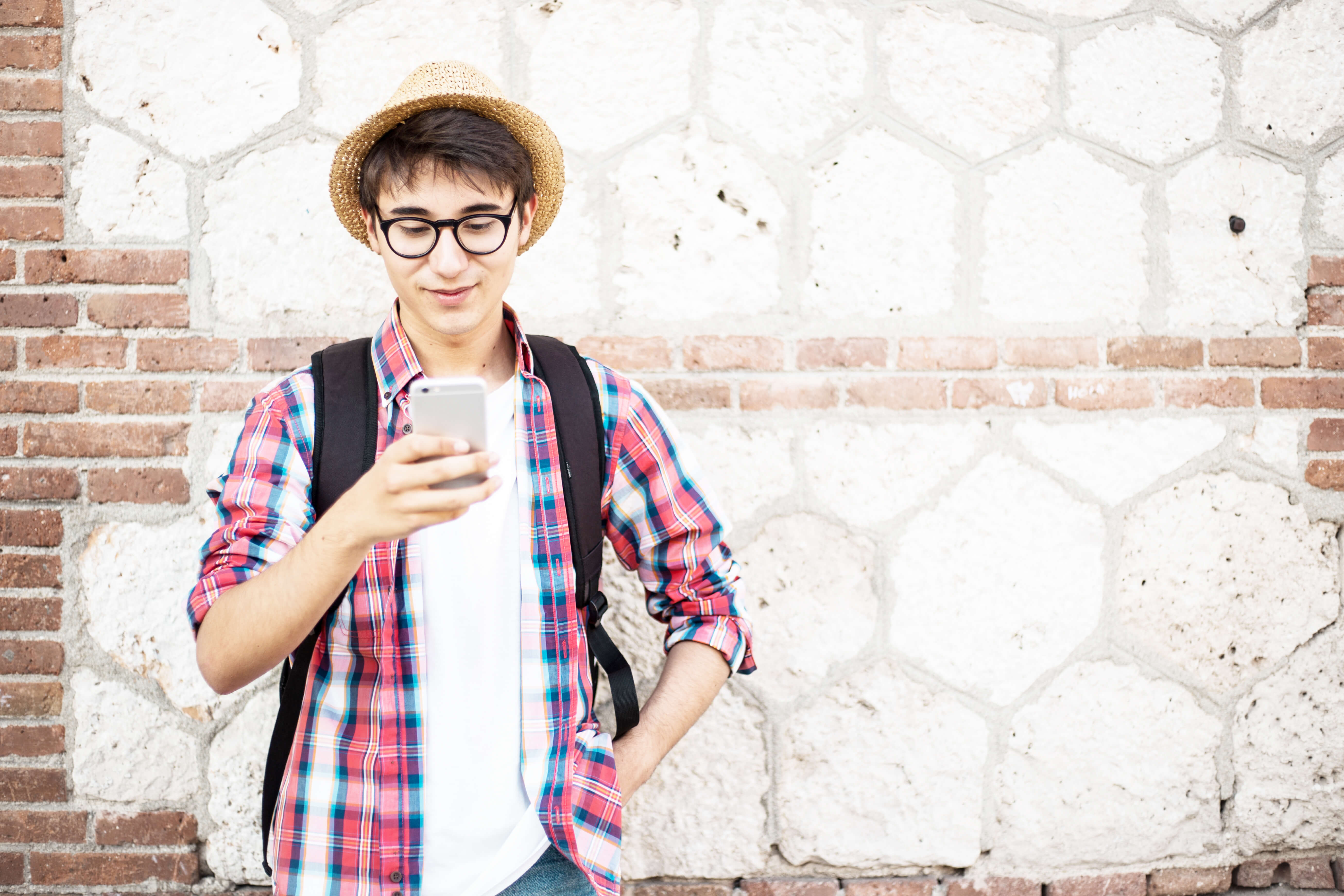 Young man on a phone