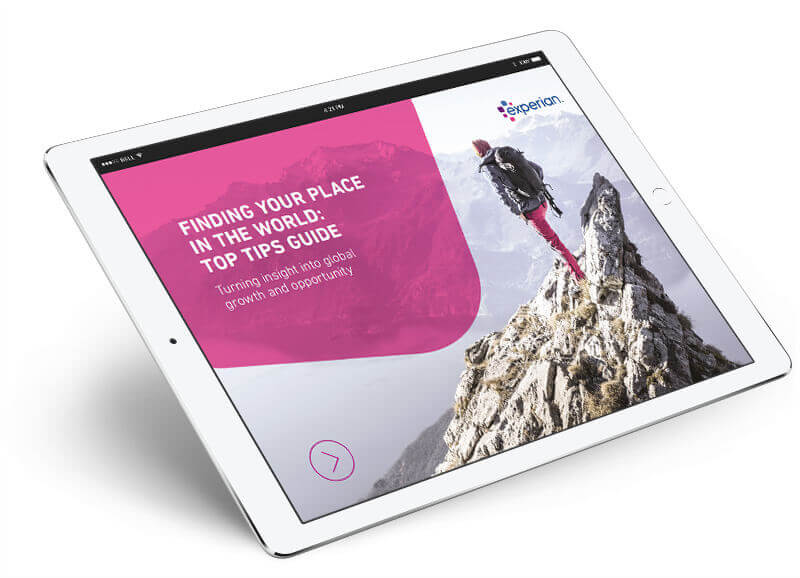 "Ipad showing the ""Finding Your Place in the World Top Tips Guide"" Whitepaper"